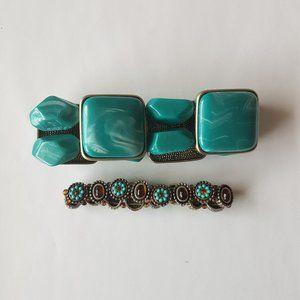 3/$15 - 2 Faux Turquoise Bracelets